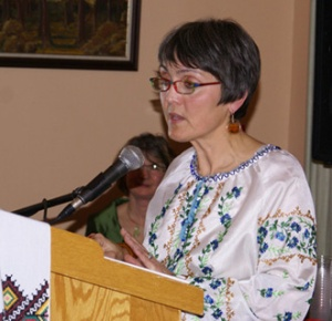 Orysia reading at the launch