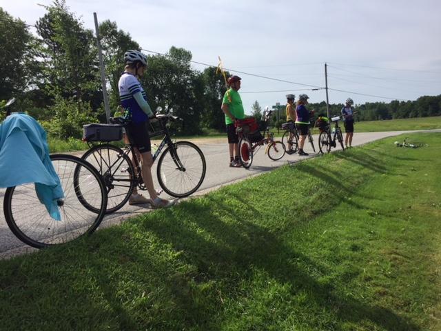 VT cyclists on tour