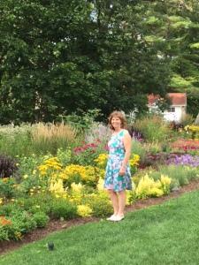 Allison in the flower garden